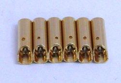 Photo1: Small cylinder plug (Female 6pcs)φ3.5