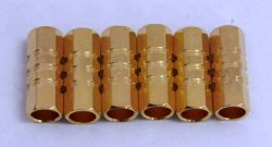 Photo1: Large cylinder plug (female 6pcs) φ4.0 Long